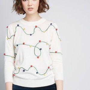 ModCloth Holiday Lights Christmas Sweater